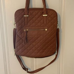 {STEVE MADDEN} Brown Leather Crossbody Bag